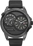 Guess Herren-Armbanduhr XL Analog Quarz Leder W0184G1