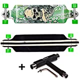 FunTomia® Longboard Skateboard Drop Through Cruiser Komplettboard mit Mach1® High Speed Kugellager...