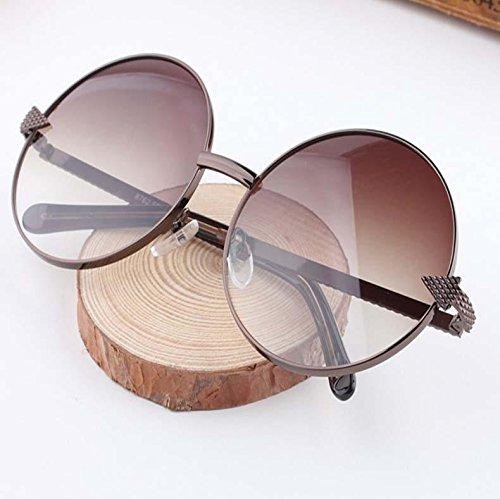 HFJ&YIE&H Retro-Trend großes Gesicht Sonnenbrille weibliche Zustrom von Männern Sonnenbrille große Kiste Mode Sonnenbrillen runden Prince Edward Spiegel