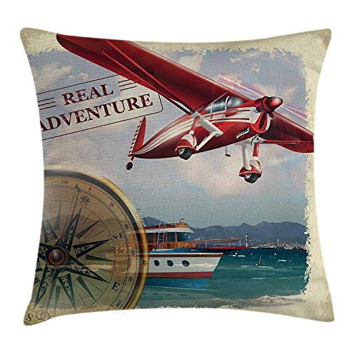Ntpclsuits Adventure Pillow case Real Adventure Quote with -