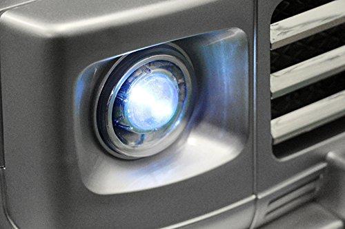 RC Auto kaufen Kinderauto Bild 6: Lizenz Kinderfahrzeug Mercedes Benz G55 AMG Jeep SUV mit 2x 35W Motor Kinderauto Elektroauto Fernbedienung MP3 Anschluss in Schwarz*