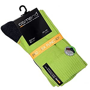 Camano 2 Paar Pro-Tex Function Sport Socken Socks unisex grau anthrazit gelb limone,trockene Füsse'
