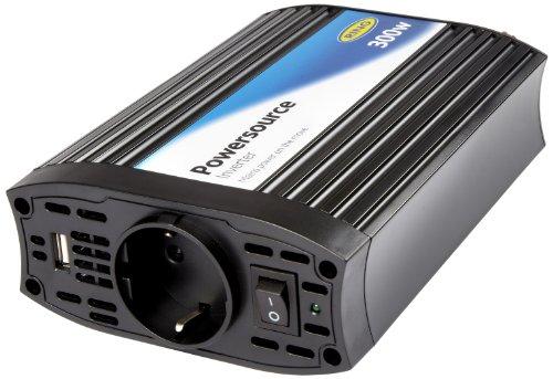 Ring Automotive REINVU300 Wechselrichter mit 2,1 Ampere USB-Anschluss, 12V, 300W