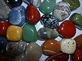 Edelsteine, Trommelsteine poliert, bunte Mischung, Größe 1-1,5 cm, 250 g-Beutel incl. kleiner Broschüre über die acht Wunscherfüllungssteine und ihrer Bedeutung