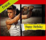 No3 JUSTIN BIEBER Autograph BIRTHDAY Card Reproduction Includes Envelope A5 Size