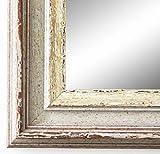 Spiegel Wandspiegel Badspiegel Flurspiegel Garderobenspiegel - Über 200 Größen - Trento Beige Silber 5,4 - Außenmaß des Spiegels 50 x 70 - Wunschmaße auf Anfrage - Antik, Barock