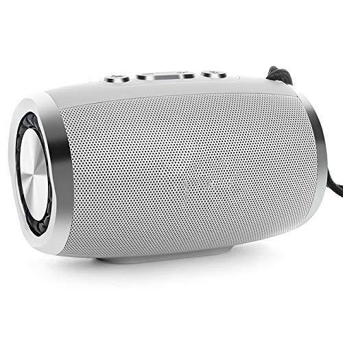 feicahnghao Lautsprecher Tragbarer Bluetooth Lautsprecher Drahtloser Lautsprecher Bass Sound 3D Stereo Musik Subwoofer Unterstützung Bluetooth (Rosa Ipod-lautsprecher-dock)