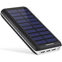 Powerbank AKEEM 22000mAh Solar Ladegerät,Akku mit 3 USB Ausgangen extrem hohe Kapazitat Powerbank für iPhone, iPad, Samsung Galaxy und andere Smartphones