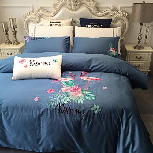 Lzyxpy Bettwäsche Set, Reine Baumwolle Einfarbig Einfache Bettbezug Bettwäsche-Set Aus Vier Frischen 12 Styles Zwei Spezifikationen -