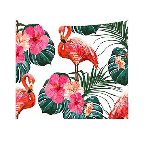 gloryhonor Flamingo Floral Pflanze bedruckt Strand Decke Handtuch Aufhängen Tapisserie Wand Decor, Polyester, 3#, 200*150cm (Strand-wand-abziehbilder Für Kinderzimmer)