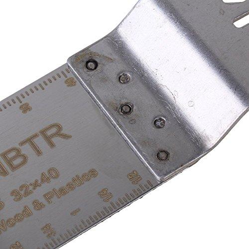 cnbtr Silber Edelstahl Universal Extra Lang schwingenden Sägeblatt Multifunktionswerkzeugen, Silber