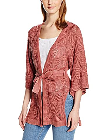 ONLY Damen Regular Fit Strickjacke onlNOAH 3/4 LONG CARDIGAN KNT, Einfarbig, Gr. 36 (Herstellergröße: S), Rot (Marsala)