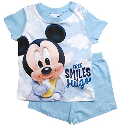 Mickey Mouse Mickey Mouse Kollektion 2018 Schlafanzug 68 74 80 86 92 Jungen Shorty Pyjama Shortie Disney Maus (Hellblau, 74)