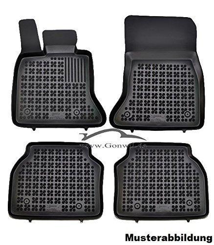 Preisvergleich Produktbild Gummi-Schalenfussmatten Fußmatten Gummifußmatten Gummimatten Automatten Peugeot 407 6D, SW, 6E