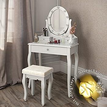 schminktisch villandry wei mit hocker und. Black Bedroom Furniture Sets. Home Design Ideas