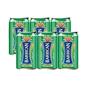 Barbican Refreshing Malt Flavour with Taste of Malt Non-Alcoholic Malt Drink Beer Can (330 ml) - Pack of 6