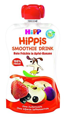 HiPP Smoothie Drink Rote Früchte in Apfel-Banane, 6er Pack (6 x 120 ml)