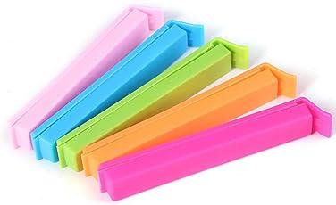 Smykker Plastic Food Snack Bag Pouch Clip Sealer for Keeping Food Fresh, Multicolour, Pack of 18