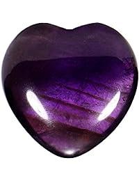 33427c6d7407 Morella piedras preciosas gema Amatista forma de corazón Ángel de la Guarda  protector de 3 cm