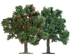 Busch 6649 - Modellismo ferroviario, Set di 2 alberi da frutta, 75 mm, scala H0/TT/N