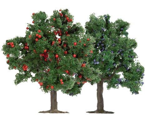 busch-6649-modellismo-ferroviario-set-di-2-alberi-da-frutta-75-mm-scala-h0-tt-n