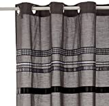 Sealskin Textil Duschvorhang, Ribbons, Farbe: Grau, B x H: 180 x 200 cm