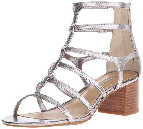 Lauren Ralph Lauren Madge tacco del sandalo New Silver