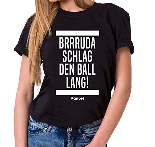 Sambosa Ante Damen T-Shirt Frankfurt Pokalsieger 2018 Prince, Farbe:Schwarz;Größe:XXL