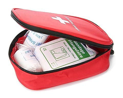 niceEshop(TM) Erste Hilfe Kit, 29 Pcs Leicht und Langlebig Medical Trauma Kit für Autosport Wandern Reisen Notüberlebens Camping Home