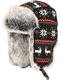 Insun Unisex Cappello da Aviatore Berretto Antivento Invernale Cappelli  Russo 5165d523e2a1