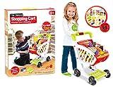StrMy Carrello Spesa Giocattolo Carrello Supermarket per Bambini con Frutta Verdura Uova Gioco e Tanti Accessori Gioco per Bambini