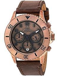 Burgmeister Reloj de mujer de cuarzo con Esfera Marrón Pantalla Analógica y pulsera de piel marrón BM532 – 955 – 1