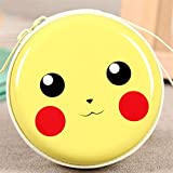 MStick Earphones Holder Case Pouch With Zipper Jewellery Earings | SD Cards | Sim Cards | Medicines - Cute Yellow Cartoon