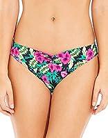 Marie Meili Women's Halle Brief Bikini Bottoms, Multicoloured (Hot Pink Palm), 16