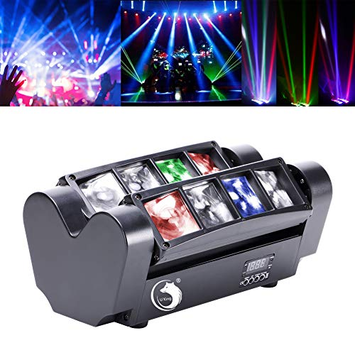U`King Spider Moving Head Partylicht mit led beam Lichter RGBW 8X10W by DMX controlled Great für Discolicht Stage Lighting Shows