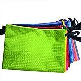 Kcopo A6 Datei Tasche Wasserdicht Sphärische Datei Tasche Dokumententasche Kunststoff Reissverschluss Beutel Für Büroartikel und Reiseartikel 1 Stück Grün