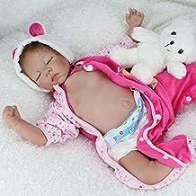 HOOMAI 22inch 55CM bebé Reborn niñas muñeca Silicona Real Realista Baby Doll Juguetes Regalo Durmiendo Cierra