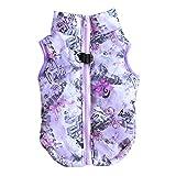 Etophigh Winter-warme Haustier-Hundekleidung-Weste-Jacken-Mantel-Hundegeschirr-Hundemantel-Hundejacke für kleinen Hund/Katze gepolsterte Winter-Kleidung (S, Lila)