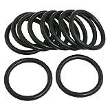 Sourcingmap a12040200ux0490-10 piezas de nitrilo negro de caucho o anillos numero ojales arandela de sellado de 55 mm x 5,7 mm