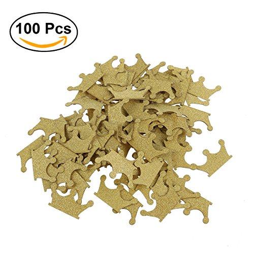ROSENICE Papier Konfetti DIY Golden Konfetti / Glitzer Papier Kuchen Topper für Hochzeit Geburtstag Party Dekor 100pcs