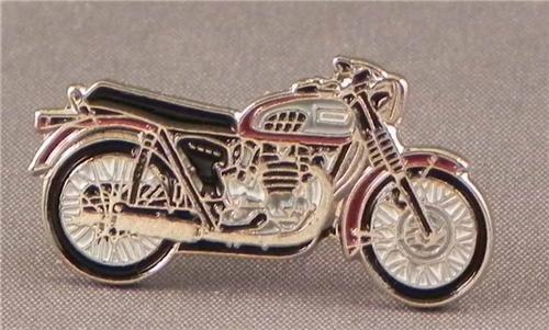 Anstecker, Metall, Emaille, Motiv Triumph Bonneville Motorrad Bike