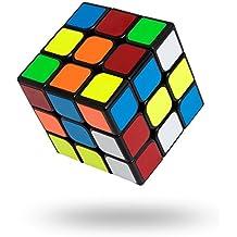 Buself Cubo Rompecabezas 3x3x3 56mm Cubo Rompecabezas Speedcube Speed Cube con bordes de color negro