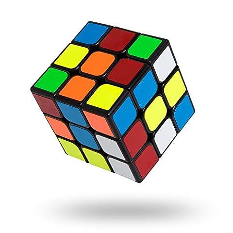 Speed Cube 3x3x3,Buself Magic Cube 55mm Spécial Compétition Ultra Rapide cube 3x3x3 pour lisse Magic Cube