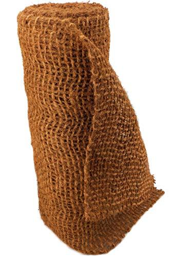 Hochwertige Ufermatte Böschungsmatte von Aquagart I 100m Kokosgewebe Kokosfaser-Matte 1m breit Kokosmatte für Pflanzen I Teichrand Pflanzen Wurzel-Schutz Kokosgeflecht Hangsicherung Bewuchsmatte