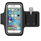 MMOBIEL Brassard pour Le Sport iPhone 8 Plus / 7 Plus / 6S Plus / 6 Plus 5,5 inch (Noir) Brassad en néoprène Etanche et élastique, Bandes réflectives