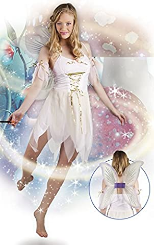 Halloweenia - Damen Feen Kostüm, Karneval, Fasching, Weiß, Größe M (Belle Von Schöne Und Das Biest Kostüm Für Erwachsene)