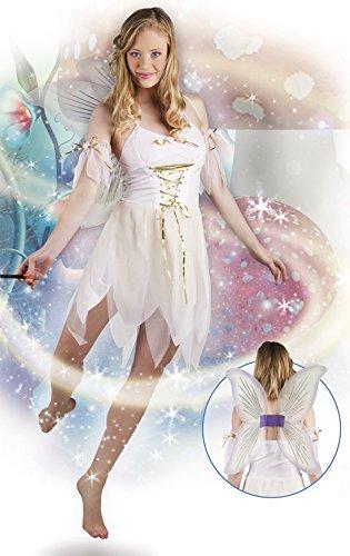 Feen Kostüm, Karneval, Fasching, Weiß, Größe M (Königin Der Diamanten-halloween-kostüm)