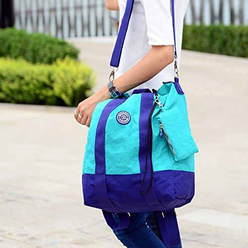 Outreo Rucksäcke Lässige Schultaschen Rucksack Damen Wasserdicht Schulrucksack Leichter Tasche Schul Daypack Kordelzug Reisetasche Backpack für Sport Grün