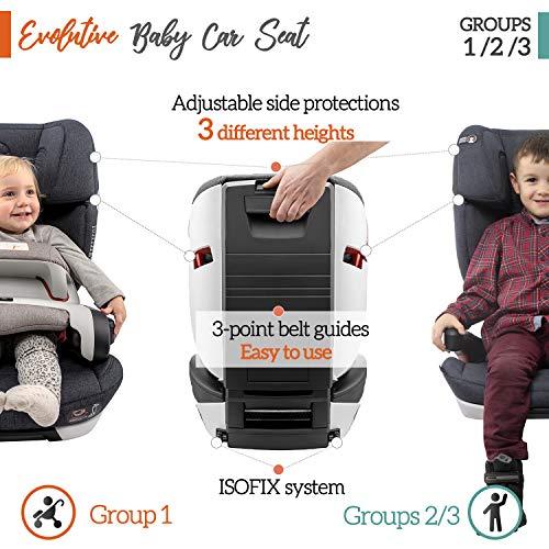 ⭐Seggiolino Auto Gruppo 1/2/3, Isofix, con Protezione d'Impatto, Norma ECE R44/04 (Sicurezza per Bambini 9-36kg) – Seggiolino Auto 9-36 kg Isofix, Rialzo Macchina Bimbo – Seggiolini Auto Reclinabile - 3
