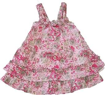 Pampolina Sommerkleid mit Blumenmuster rosa pink-128